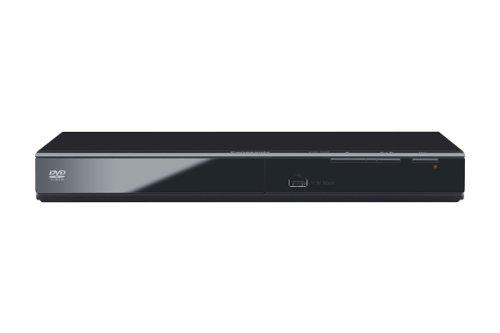 Panasonic DVD-S500EG-K Eleganter DVD-Player (Multiformat Wiedergabe mit xvid, MP3 und JPEG, USB 2.0) schwarz