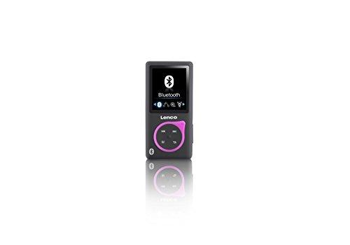 Lenco MP3-Player Xemio-768 - MP3/MP4-Player, 8 Gb Micro SD-Karte Inklusive In-Ear Kopfhörer und Bluetooth- Rosa