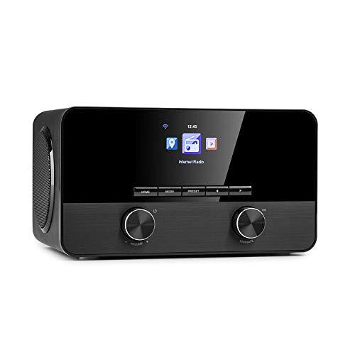 auna Connect 100 SE - Internetradio, Mediaplayer, Bluetooth, WLAN: Netzwerkplayer, App-Control, 2,4' TFT-Farbdisplay, USB-Port, AUX-In, Line-Out, UKW-Radio, schwarz