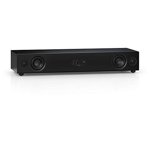 Nubert nuPro AS-3500 | Schwarze Soundbar für HiFi | Soundplate mit Dolby Audio und DTS | vollaktiver TV-Lautsprecher für Spitzenklang | Soundbase mit Bluetooth aptX HD | Stereobase in 2 Wege Technik