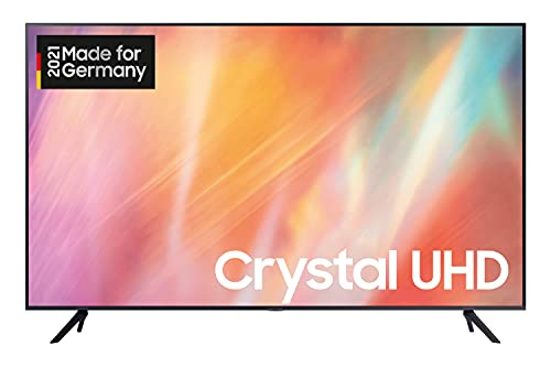 Samsung Crystal UHD 4K TV 75 Zoll (GU75AU7179UXZG), HDR, Q-Symphony, Boundless screen [2021], Schwarz