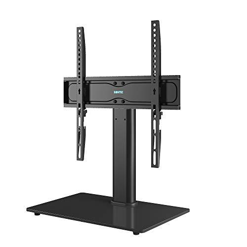 BONTEC TV Standfuß TV Ständer Universal Höhenverstellbar für 26-55 Zoll LCD LED OLED Plasma Flach & Curved Fernseher oder Monitore bis zu 40KG, Max.VESA 400x400 mm