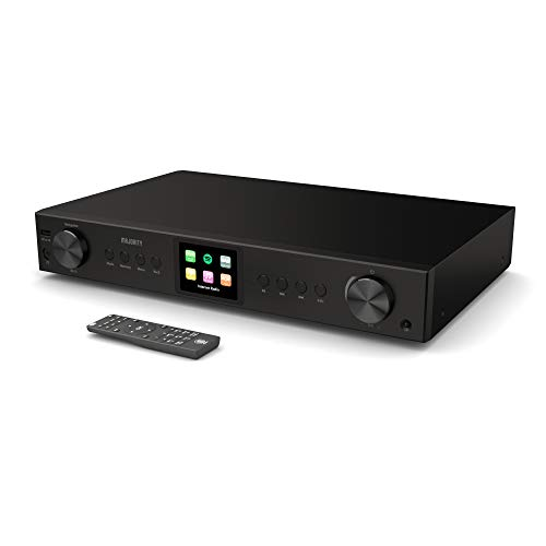 Majority Fitzwilliam 2 HiFi-Tuner, digitales DAB/DAB + / FM- und Internetradio, Spotify Connect, Bluetooth, Fernbedienung, USB & AUX; optische, koaxiale und konventionelle Anschlüsse, Farbdisplay