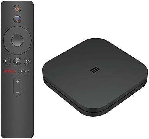 Mi Box S, Smart-TV-Box 4K Ultra HD + HDR Bluetooth-Fernbedienung Quad-Core-CPU 2 GB RAM + 8 GB Speicherunterstützung Dolby und DTS Surround Sound Android 8.1
