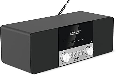 TechniSat DIGITRADIO 3 - Stereo DAB Radio Kompaktanlage (DAB+, UKW, CD-Player, Bluetooth, USB, Kopfhöreranschluss, AUX-Eingang, Radiowecker, OLED Display, 20 Watt RMS) schwarz