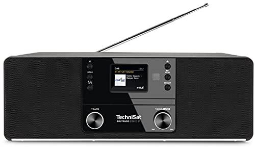 TechniSat DIGITRADIO 370 CD BT - Stereo Digitalradio (DAB+, UKW, CD-Player, Bluetooth, Farbdisplay, USB, AUX, Kopfhöreranschluss, Kompaktanlage, Wecker, 10 Watt, Fernbedienung) schwarz