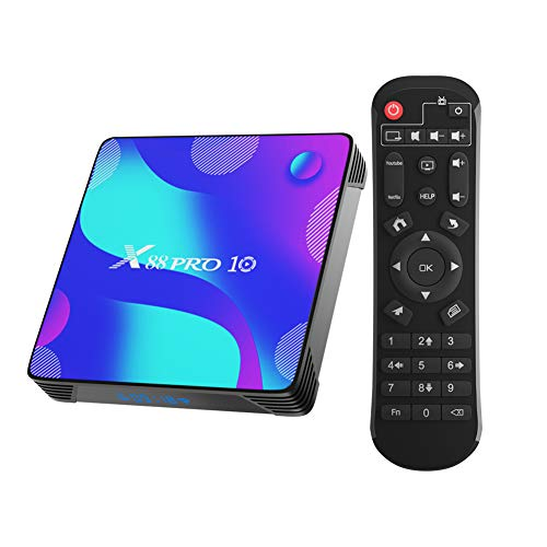 Android 10.0 TV Box, Smart Box 2GB RAM 16GB ROM RK3318 Quad-Core 64bit Cortex-A53 2.4GHz/ 5GHz WiFi 100M LAN Enternet 4K UHD Bluetooth 4.0