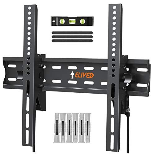 ELIVED TV Wandhalterung Neigbar Fernseher Wandhalterung für die meisten 26-55 Zoll Flach & Curved LED, LCD, OLED, Plasma TVs bis zu 45kg mit Max VESA 400x400mm, Neigbare TV Halterung EV007
