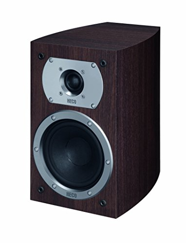 Heco Victa Prime 202 | 2 Wege Heimkino- und Stereo-Regallautsprecher | 1 Paar, Farbe:Espresso