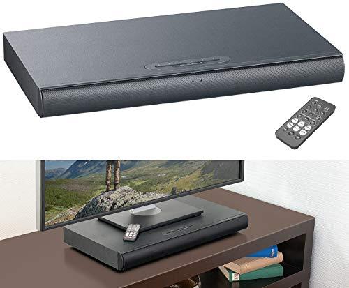 auvisio Sounddeck mit Radio: 2.1-Soundbase mit integriertem Subwoofer, Bluetooth, Radio, 120 Watt (Soundbar)