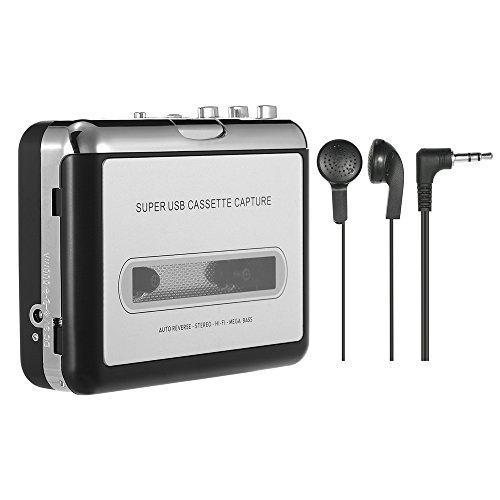 Docooler Tragbare Kassettenspieler - Kassette zu MP3/CD-Recorder über USB Kompatibel mit Laptops und PC,Tragbarer Kassettenkonverter Walkman Tape Kassetten in Digitales Format mit Kopfhörer