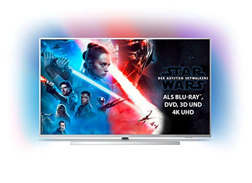 Philips Ambilight 58PUS7304/12 Fernseher 146 cm (58 Zoll) Smart TV (4K, LED TV, HDR 10+, Android TV, Google Assistant, Alexa kompatibel, Dolby Atmos) Hellsilber