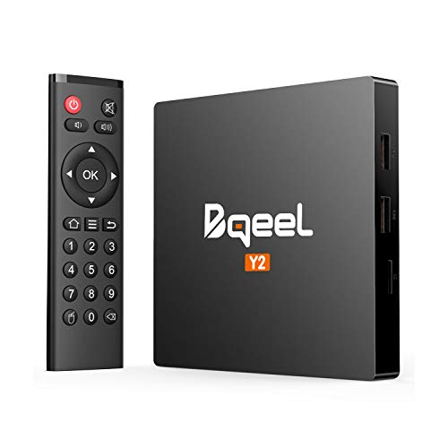 Bqeel Android TV Box Y2【2GB+16GB】 Smart TV Box unterstützt 4K/H.265/ WiFi IEEE 802.11b / g / n, 2.4G LAN/ 10M / 100Mbps LAN/ 64 Bits Android 7.1 TV Box