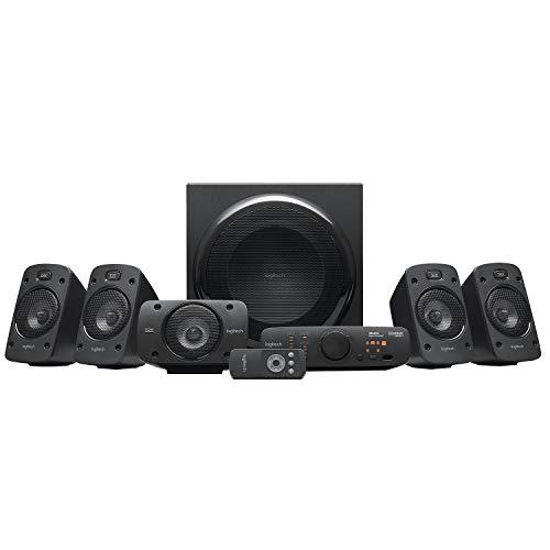 Logitech Z906 5.1 Sound System, Lautsprecher mit 1000 Watt Surround Sound, THX, Mehrere Audio-Eingänge, Fernbedienung, Multi-Device, EU Stecker, PC/PS4/Xbox/Stereo-Anlage/TV/Smartphone/Tablet