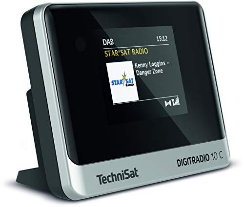 TechniSat DIGITRADIO 10 C - DAB+ Digitalradio Adapter (Farb-Display, Bluetooth, Fernbedienung, Wecker, optimal zur Aufrüstung bestehender HiFi-Anlagen) schwarz/silber