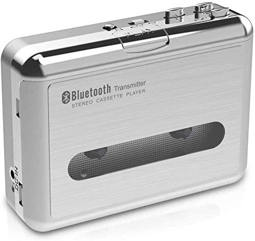 DIGITNOW! Kassettenrecorder, Portable Bluetooth Tape Kassettenspieler-Kassette mit Kopfhörern