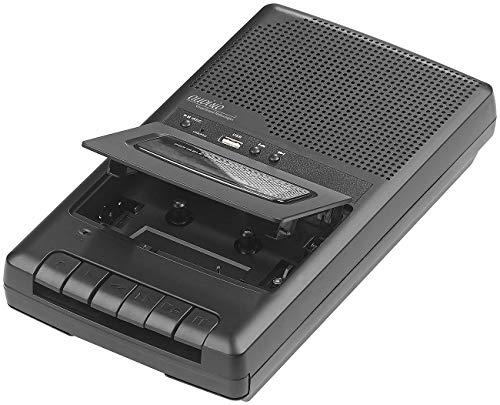 auvisio Kassetten digitalisieren: Mobiler Kassettenspieler & USB-Digitalisierer, Lautsprecher & Mikrofon (Kassettendigitalisierer)
