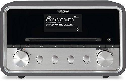 TechniSat DIGITRADIO 580 – Stereo DAB+ Internetradio (CD-Player, WLAN, LAN, DAB, UKW, Bluetooth, Spotify, USB, Wecker, Wifi Streaming, Equalizer, 2 x 10 Watt Lautsprecher) anthrazit