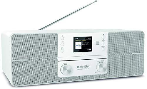 TechniSat DIGITRADIO 371 CD BT - Stereo Digitalradio (DAB+, UKW, CD-Player, Bluetooth, Farbdisplay, USB, AUX, Kopfhöreranschluss, Kompaktanlage, Wecker, 10 Watt, Fernbedienung) weiß