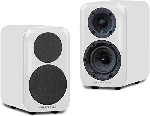 Wharfedale D320 Paar Passive Regal-Lautsprecher, weiß