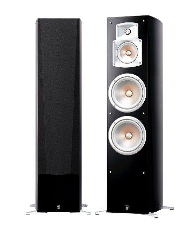 Yamaha NS 777 Stand Lautsprecher System (3-Wege Bassreflex, Waveguidehorn, 100W) klavierlackschwarz