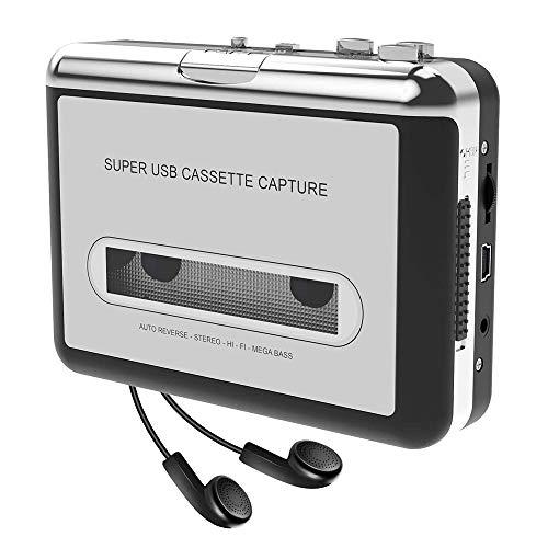 Docooler Tragbare Kassettenspieler - Kassette zu MP3 / CD-Recorder über USB Kompatibel mit Laptops und PC,Tragbarer Kassettenkonverter Walkman Tape Kassetten in Digitales Format mit Kopfhörer