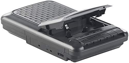 auvisio Kassettenrekorder: Mobiler Kassettenspieler, Lautsprecher, Kopfhörer-Anschluss, Mikrofon (Kassettenrecorder mit Mikrofon)