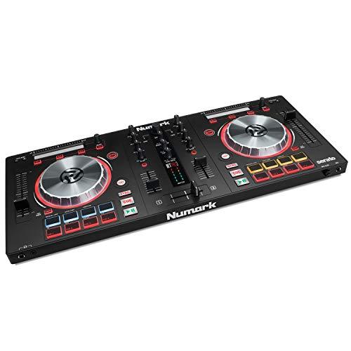Numark Mixtrack Pro 3 All-In-One 2-Deck DJ Controller für Serato DJ inklusive eines integrierten Audio Interfaces, hochauflösende 5-Zoll Jog Wheels und Serato DJ Lite und Prime Loops Remix Tool Kit