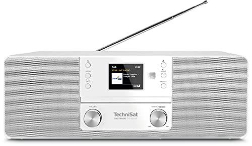 TechniSat DIGITRADIO 370 CD BT - Stereo Digitalradio (DAB+, UKW, CD-Player, Bluetooth, Farbdisplay, USB, AUX, Kopfhöreranschluss, Kompaktanlage, Wecker, 10 Watt, Fernbedienung) weiß
