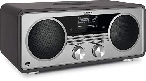 TechniSat DIGITRADIO 601 - Stereo Internetradio (DAB+, UKW, Subwoofer, CD, USB, Bluetooth-Audiostreaming, AUX, WLAN, Kompaktanlage, Wecker, Wireless Charging, Alexa-Sprachsteuerung) anthrazit