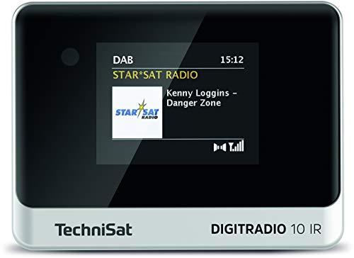 TechniSat DIGITRADIO 10 IR - DAB+ und Internetradio Adapter (WLAN, Farb-Display, Bluetooth, Fernbedienung, Wecker, optimal zur Aufrüstung bestehender HiFi-Anlagen) schwarz/silber