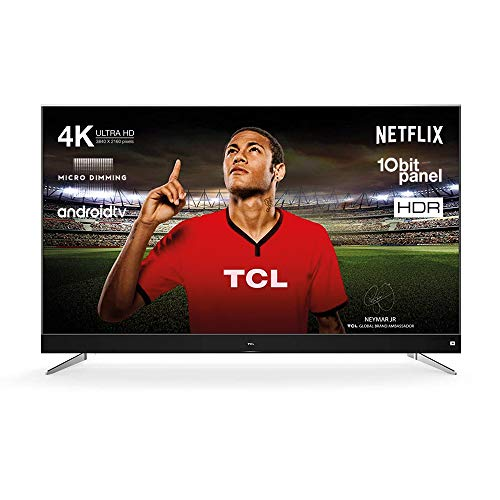 TCL U75C7006 Fernseher 190 cm (75 Zoll) Smart TV (4K, Android TV, HDR 10, Triple Tuner, Micro Dimming, Sound by JBL) Titanium