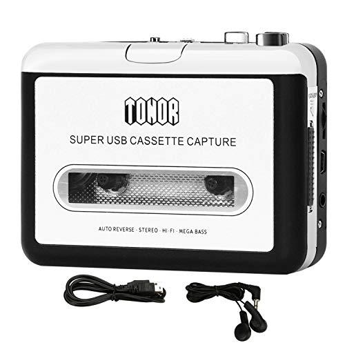TONOR Tragbarer Kassetten Digital Konverter und Player USB