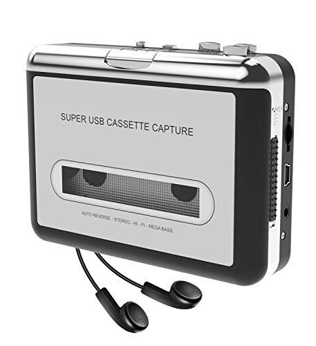 DIGITNOW! Kassettenspieler-Kassette zu MP3 / CD-Recorder über USB, Tragbarer Kassettenkonverter Wandelt Walkman-Kassette in Digitales Format um, Kompatibel mit Mac und PC