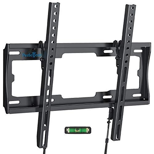 TV Wandhalterung, Perlegear Neigbare Fernseher Halterung für 26-55zoll Flach&Curved Fernseher Oder Monitor bis zu 60kg Max.VESA 400x400mm