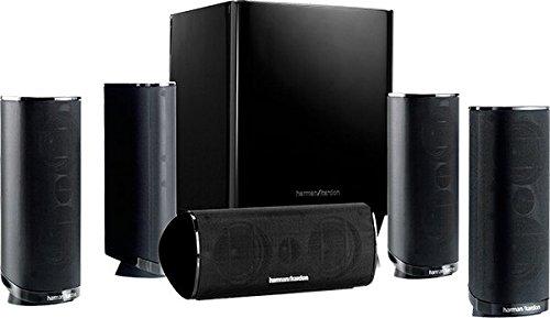 Harman/Kardon HKTS 16 5.1-Kanal Lautsprechersystem (Surroundsound mit Heimkinoklang, Inkl. 4 Dual Mitteltöner Satellitenlautsprechern, 1 Center-Lautsprecher, 200-Watt Subwoofer) schwarz