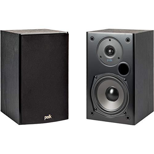 Polk Audio T15 Regallautsprecher, Stereo-Lautsprecher, HiFi Lautsprecher für Musik und Heimkino Sound, passiver Full Range Lautsprecher, 20 - 150 Watt, 8 Ohm, 45Hz – 24kHz (Paar)