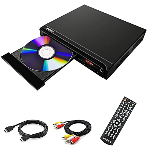 Kompakter DVD-Player für TV, DVD-Player für mehrere Regionen, DivX, MP4, MP3, DVD / CD-Player für Privatanwender mit HDMI / AV / USB / MIC , PAL/NTSC