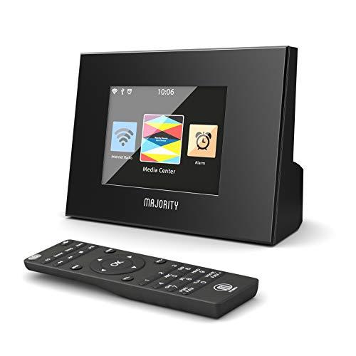 Majority Robinson Internetradio Wi-Fi WLAN Adapter - DAB/DAB+/UKW Digital-Radio Adapter - Spotify Connect - Bluetooth - Fernbedienung - Dual Wecker - Schlummerfunktion und Sleeptimer