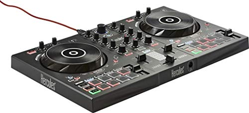 Hercules DJControl Inpulse 300 (2-Deck DJ Controller, Beatmatch Guide, IMA, 16 Pads, integr. Soundkarte, DJ Academy, DJUCED, PC / Mac)