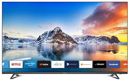 DYON Smart 55 XT 138,7 cm (55 Zoll) Fernseher (4K Ultra-HD Smart TV, HD Triple Tuner (DVB-C/-S2/-T2), Prime Video, Netflix & HbbTV) [Modelljahr 2020]