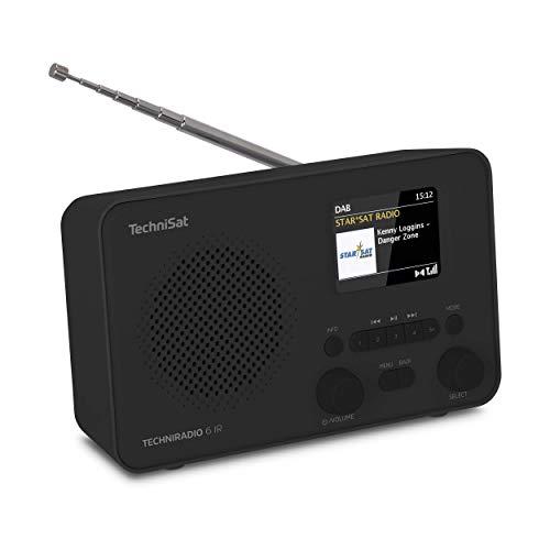 TechniSat TECHNIRADIO 6 IR – portables Internetradio (DAB+, UKW, WLAN, Bluetooth, Farbdisplay, Wecker, App-Steuerung, Favoritenspeicher, 3 Watt RMS) schwarz