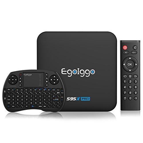 TICTID S95X Pro Android 6.0 TV Box Smart TV Box mit Mini Wireless Tastatur / 2GB Ram+16GB eMMC / Amlogic S905X Quad-Core Prozessor / 2.4GHz WiFi / 100M LAN / HDMI / SPDIF unterstützt 4K HD