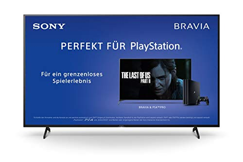 Sony KD-75XH8096 Bravia 190 cm (75 Zoll) Fernseher (Android TV, LED, 4K Ultra HD (UHD), High Dynamic Range (HDR), Smart TV, Sprachfernbedienung, 2020 Modell) Schwarz