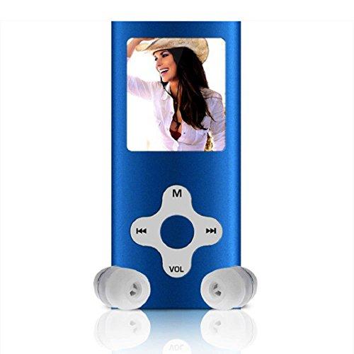 Amison 8GB Schlank digitale MP4 Player 1.8inch LCD Bildschirm FM Radio Video Games Film (Blau)