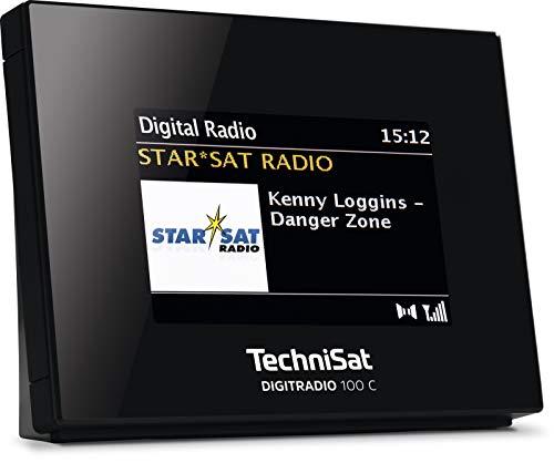 TechniSat DIGITRADIO 100 C – DAB+ Radio Adapter mit Bluetooth (DAB, UKW-Empfangsteil zur Erweiterung von HiFi-Anlagen und AV-Receivern, Wecker, Farbdisplay, Anschluss für externe Antenne) schwarz