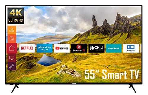 Telefunken XU55K521 55 Zoll Fernseher (Smart TV inkl. Prime Video/Netflix/YouTube, 4K UHD, HDR, HD+)