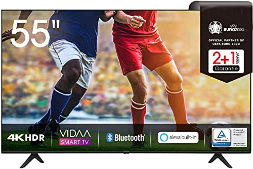 55 zoll 4k 65AE7000F 164 cm (55 Zoll) Fernseher (4K Ultra HD, HDR, Triple Tuner DVB-C/ S/ S2/ T/ T2, Smart-TV, Frameless, Bluetooth, Alexa, verstellbare Standfüße) (55 Zoll)