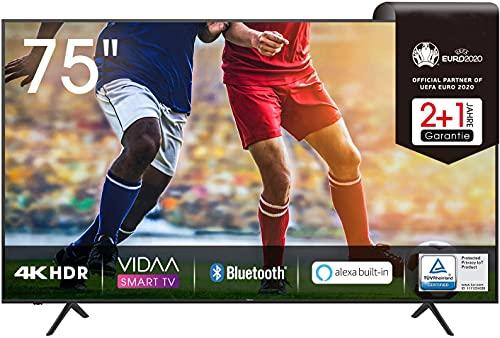 75 zoll 4k 75AE7000F 190 cm (75 Zoll) Fernseher (4K Ultra HD, HDR, Triple Tuner DVB-C/ S/ S2/ T/ T2, Smart-TV, Frameless, Bluetooth, Alexa, verstellbare Standfüße)