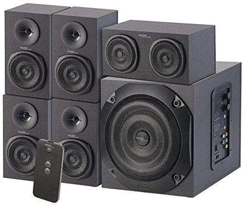 auvisio 5 1 Soundsystem: Analoges 5.1-Lautsprecher-System für PC, TV, DVD, Beamer & Co, 120 W (Home Cinema)